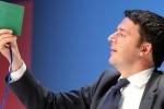"""Renzi: """"Subito la legge elettorale, entro le Europee o ci portano via"""""""