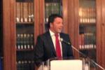 """Renzi: """"Falcone educava noi studenti a combattere la mafia"""""""