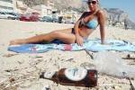 Palermo, anche la spiaggia dell'Arenella tra i rifiuti